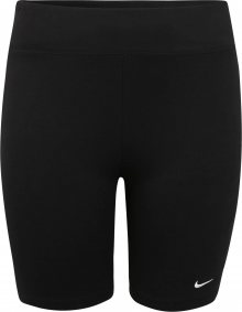 Nike Sportswear Kalhoty \'W NSW LEGASEE BIKE SHORT PLUS\' bílá / černá