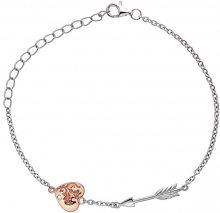Hot Diamonds Stříbrný náramek s diamantem Cupid DL598