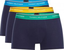 Tommy Hilfiger Pánské boxerky 3P Wb Trunk UM0UM01642-024 Golf Green/Dresden Blue/Spec Ylw M