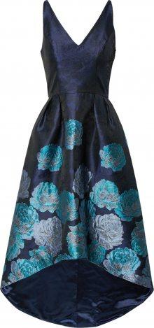 Chi Chi London Koktejlové šaty světlemodrá / námořnická modř / stříbrně šedá