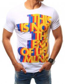 Buďchlap Bílé tričko s barevným potiskem