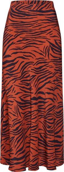 CATWALK JUNKIE Sukně \'animal stripes\' hnědá / černá / oranžová
