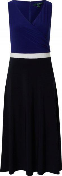Lauren Ralph Lauren Koktejlové šaty námořnická modř / bílá