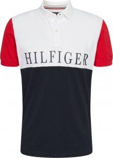 TOMMY HILFIGER Tričko tmavě modrá / bílá / červená