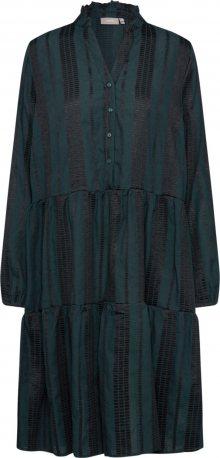 b.young Košilové šaty \'BXILISE DRESS\' tmavě zelená / černá