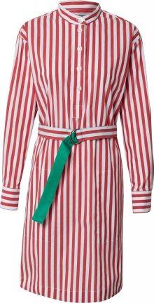 UNITED COLORS OF BENETTON Šaty červená / bílá