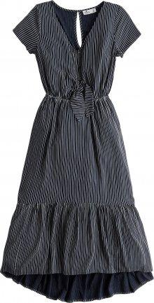 HOLLISTER Šaty námořnická modř / bílá