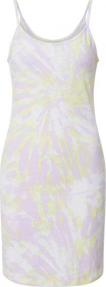 ADIDAS ORIGINALS Šaty pastelově žlutá / offwhite / pastelová fialová