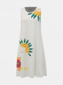 Bílé květované šaty Desigual Love