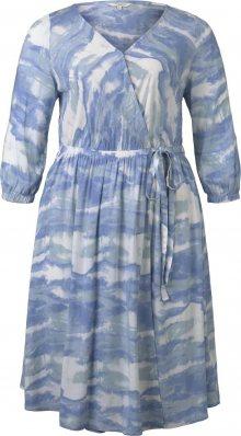 MY TRUE ME Šaty kouřově modrá / mix barev
