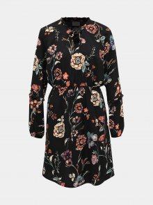 Černé květované šaty Jacqueline de Yong Ruby