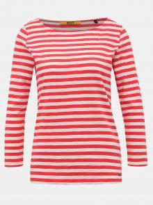 Bílo-červené dámské pruhované basic tričko ZOOT Baseline Atina