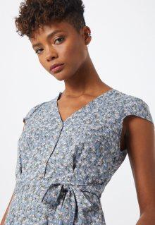 Louche Letní šaty \'CATHLEEN FLAX\' mix barev / zelená / chladná modrá / bílá