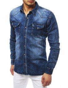 Dstreet Fantastická modrá riflová košile