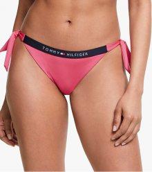 Tommy Hilfiger Dámské plavkové kalhotky Laser Pink Cheeky Side Tie Bikini S