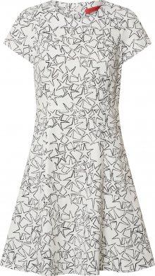 MAX&Co. Koktejlové šaty \'DISPARI\' bílá / černá