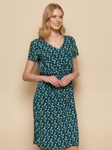 Zeleno-modré vzorované šaty Tranquillo Madiba