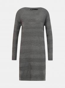 Šedé svetrové šaty ONLY Caviar