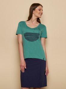 Zelené tričko s potiskem Tranquillo  Fajola