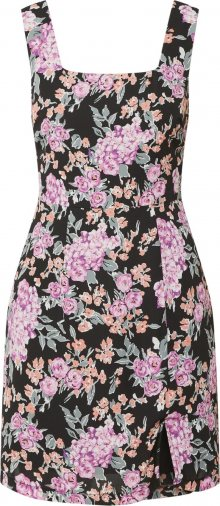 Fashion Union Šaty \'NO FUSS\' pink / oranžová / černá