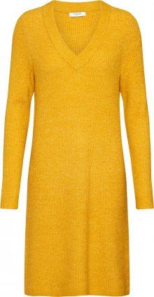 PIECES Úpletové šaty \'ELLEN\' žlutá