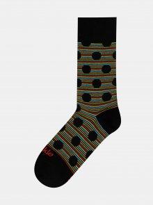Černé vzorované ponožky Fusakle Chameleon