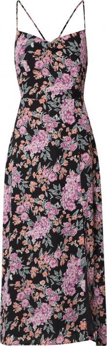 Fashion Union Společenské šaty \'ALMOND\' pink / růžová / černá