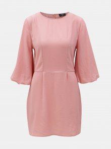 Růžové šaty s 3/4 rukávy AX Paris