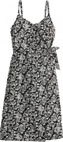 HOLLISTER Šaty \'CHAIN\' bílá / černá