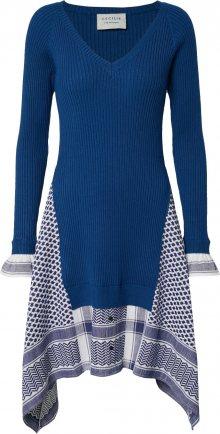 Cecilie Copenhagen Šaty \'Anelie\' bílá / námořnická modř