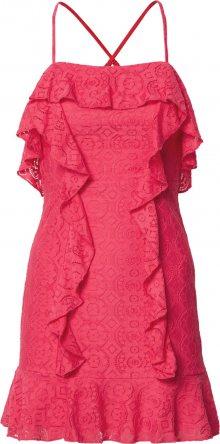 Love Triangle Koktejlové šaty \'Flamingo\' svítivě růžová
