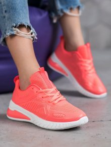 Designové oranžové dámské  tenisky bez podpatku