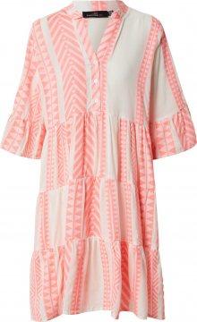 Zwillingsherz Šaty \'Amalia\' pink / bílá