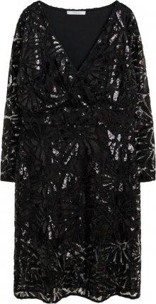 VIOLETA by Mango Koktejlové šaty \'Valeria\' černá
