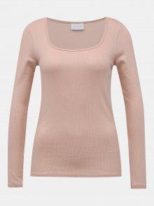 Růžové basic tričko VILA Suloma