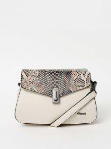 Krémová crossbody kabelka s hadím vzorem Gionni Adabelle