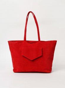 Červená kabelka v semišové úpravě Haily´s Shoppy