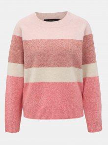 Růžový pruhovaný svetr VERO MODA Doffy