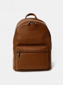 Hnědý kožený batoh Smith & Canova Around