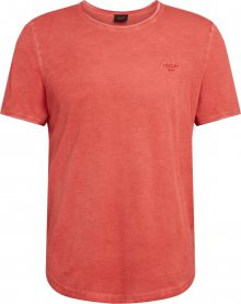 JOOP! Jeans Tričko \'Clark\' oranžově červená