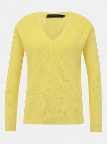 Žlutý basic svetr VERO MODA Lexa