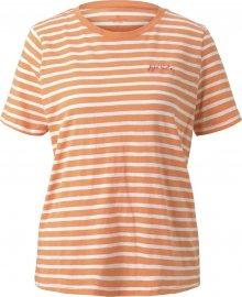 TOM TAILOR Tričko bílá / oranžová