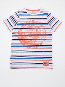 Oranžovo-bílé klučičí pruhované tričko name it Fonzo