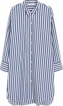 VIOLETA by Mango Košilové šaty \'Blus 6\' bílá / modrá