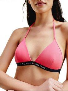 Tommy Hilfiger Dámská plavková podprsenka Laser Pink Triangle Fixed S