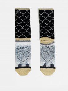 Šedo-černé dámské ponožky XPOOOS