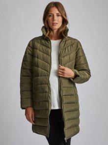 Zelený těhotenský prošívaný zimní kabát Dorothy Perkins Maternity