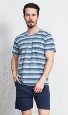 Pánské pyžamo šortky Vienetta Secret Jirka   šedá   M