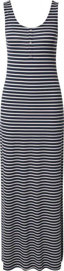 VILA Šaty námořnická modř / bílá