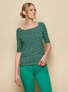 Tmavě zelené vzorované tričko Tranquillo Pili